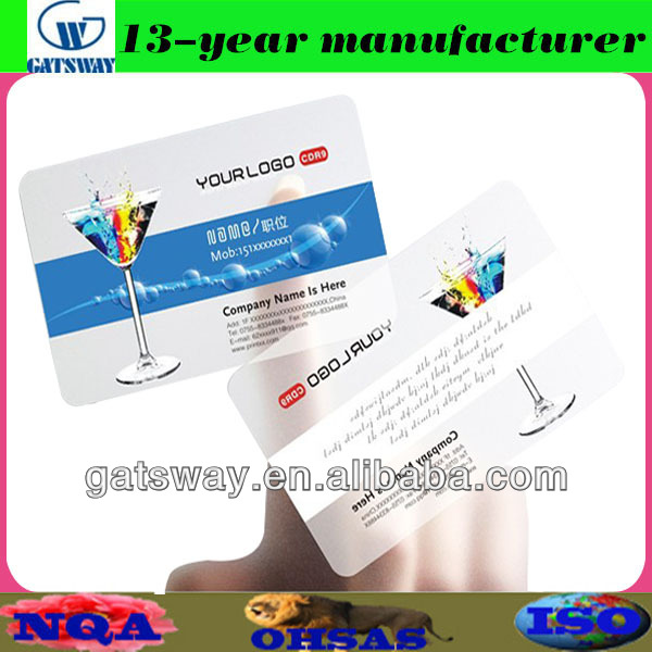 transparent card usb flash drive with magnetic stripe