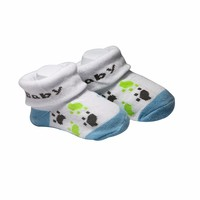Cute design 100% cotton baby socks with pattern,baby tube sock