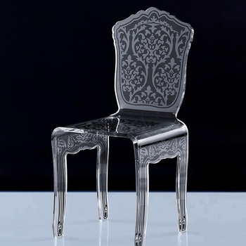 Hot sale high quality  acrylic silk-screen dining chair
