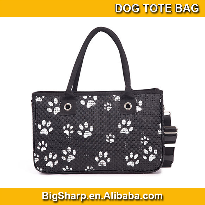 wholesale high quality portable carrier sided shoulder sling dog three types PU dog tote bag