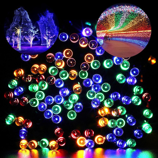 72ft 200 LED 8 Modes Solar Powered Waterproof Starry Fairy Outdoor Christmas Decoration Lights Landscape Solar String Lights