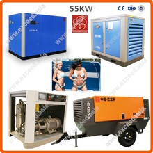 340 CFM Screw & diesel or electric & 340cfm oil free air compressor 55kw