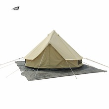 4M Outdoor Canvas Bell Tent For Sale Anti Waterproof Camping Tent