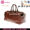 fashion brown wholesale leather duffle bag
