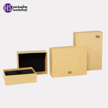 High quality Craft paper gift box with clear pvc windows and sponge
