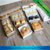 Swiss roll cake doughnut cupcake pork floss bread box with plastic lid