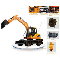 rc digger construction equipment 1/12 rc hydraulic excavator