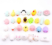 Wholesale TPR Slow Rising Anti- Stress Anti-Anxiety Durable Cute Mochi Squishies Cat Animal Toy
