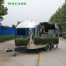 Popular stainless steel fast food trailer for sale usa