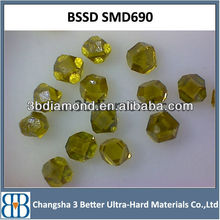 China monocrystal diamond/industrial monocrystal diamond/synthetic yellow monocrystal diamond manufacturer