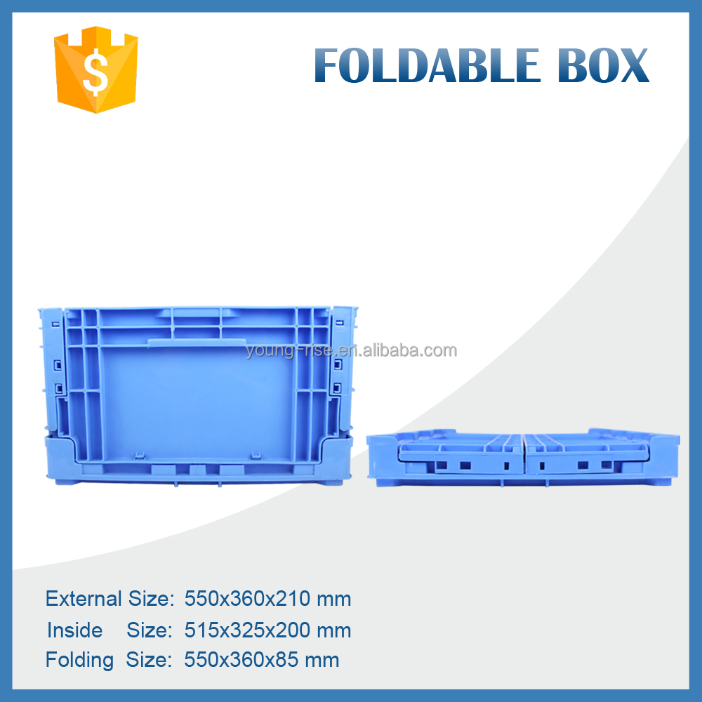Industrial Foldable Plastic Storage Crate foldable Tool Moving Box for Warehouse