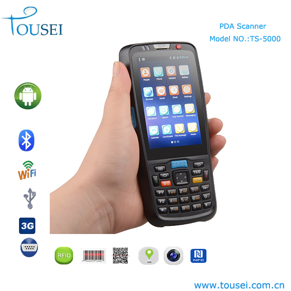 Cheap android handheld mobile computers with 1d,2d barcode scanner and RFID reader