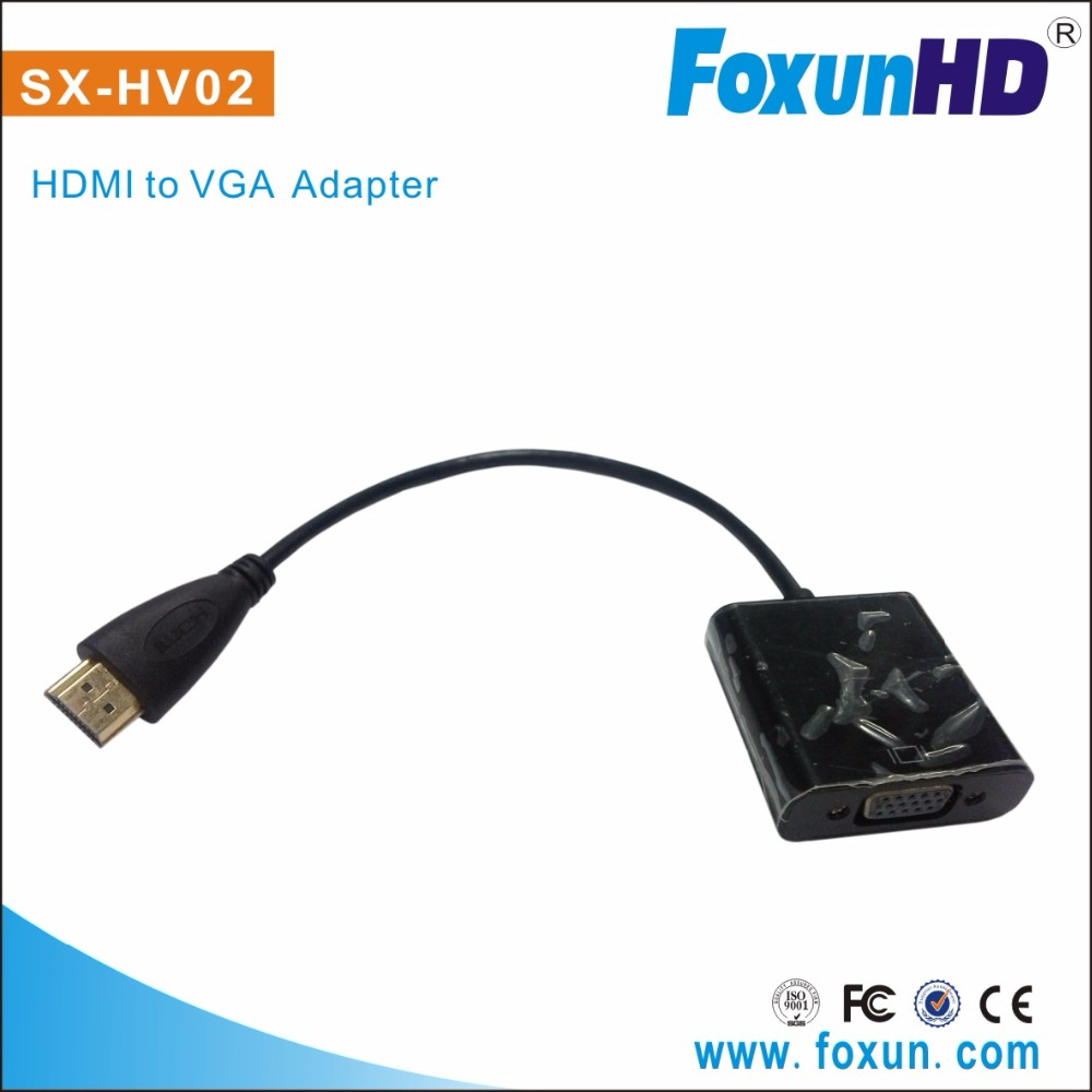 SX-HV02 1080P HDMI Male to VGA Female Video Cable Cord Converter mini vga to hdmi cable