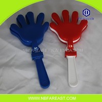 Customized logo useful cheap plastic hand clappers