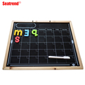 Seatrend Dry Erase Black Magnetic Drawing Board With Wooden Frame