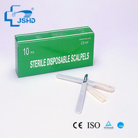 Factory Direct HDA sterile disposable Stainless Steel Surgical blade with plastic handle