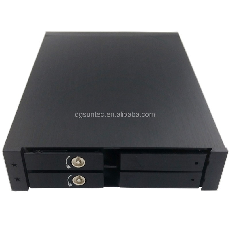 2.5in Dual Bay Panel Supports Hot Swap Aluminum case and Sata 6Gbps Hard Disk Drive Case