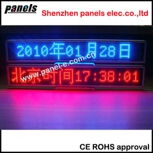 Size 338 x 62 x 15 mm LED mini Dest Board/led info board/led advertising board