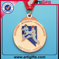 Copper plated metal medal souvenir gift free sample