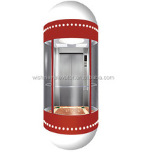 Capsule lift high quality full glass sightseeing panoramic elevator