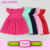 Girls summer dresses cotton flutter sleeve latest children dress designs