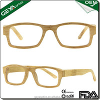 Low MOQ wholesale cheap bamboo reading glasses 2016
