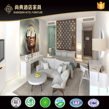 Commercial Used White Laminated Hotel Bedroom Furniture For Sale