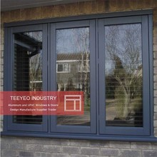 Teeyeo ISO 9001standard aluminum hollow profile iron grill new designs casement windows and doors