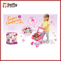 Lovely pink baby shopping cart toy