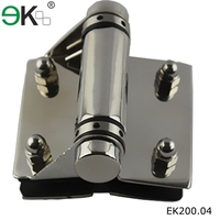 stainless steel glass pool gate heavy loaded sping hinge/self closing glass door hinge