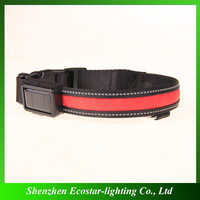 30% discount solar led pet collar usb charging for sale