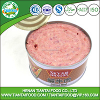 Low-Fat,Low-Carb Feature and HACCP,HALAL Certification luncheon beef corned beef canned beef