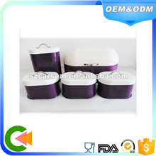 Powder coating metal bread bin sugar coffee tea biscuit canisters set
