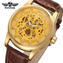 T- winner Uhren With Clear Stones 2018 Brand New Design Mens Watch Automatic Gold Wrist Watches From Guangzhou Wholesale Market