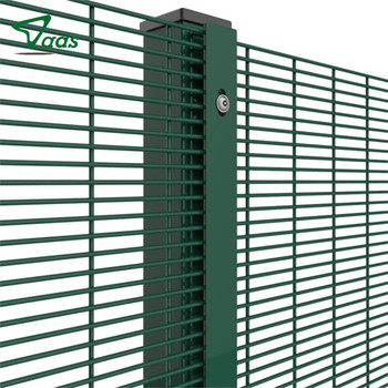 3D green pvc coated welded 358 security wire mesh fence