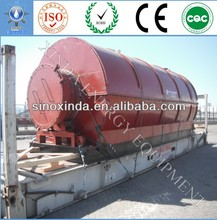 New Model used tyre pyrolysis to crude oil machine
