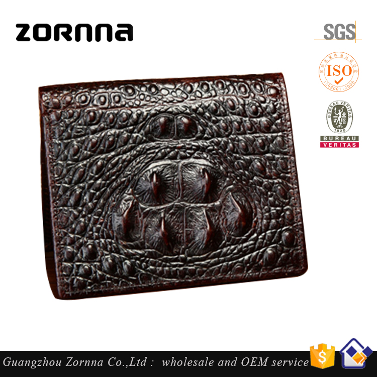 China Famous Brand promotional long lasting elegant genuine leather men's wallets