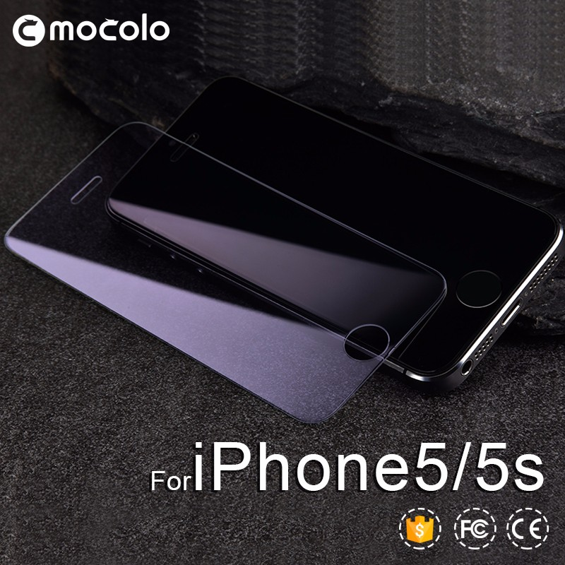 Mocolo tempered glass film screen protector for iphone 5 Blue light cut explosion proof screen protector for iphone 5
