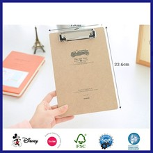 Kraft Paper Embossing Paper Hanging Clip File Folder