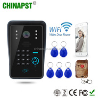 2017 China factory supplier Wireless Villa Intercom Video rain-proof cover motion detect alarm Access Control PST-WIFI002IDS