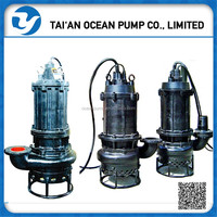 Electric motor chromium centrifugal alloy submersible slurry pump