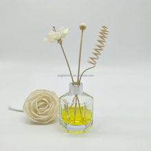 decorative room diffuser glass bottles hexagonal air freshener glass reed diffuser bottle