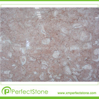 Fancy pink pool marble slabs tiles from china