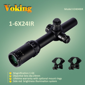 1x-6x24 Illuminated reticle Tactical Weapon 30mm Scope
