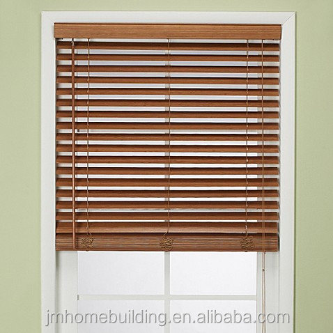 China factory wooden window blind curtains with tapes