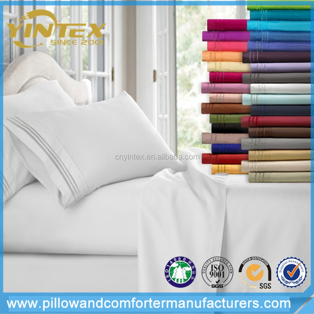 YINTEX 1800 Thread Count Cotton Sheet Set/Microfiber Bed Sheets