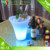 2017acrylic LED Growing Ice Bucket Champagne Beer Bucket For Party