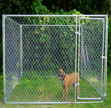 wholesale outdoor large dog kennel cage / iron fence dog kennel / chain link fence prices