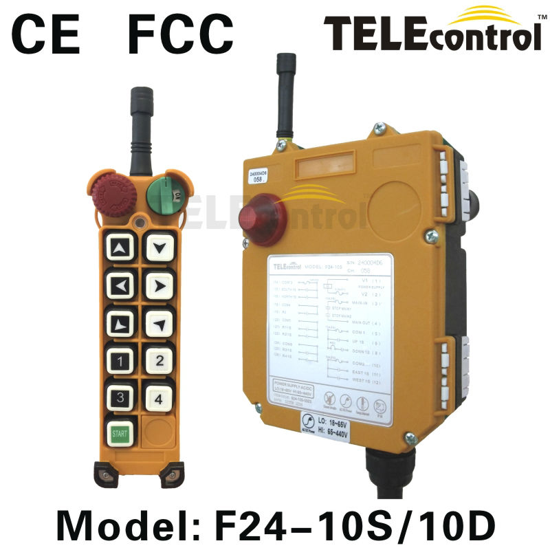 F24-10S 12V Wireless Remote Control With Tower Crane Radio Industrial Toggle Switch
