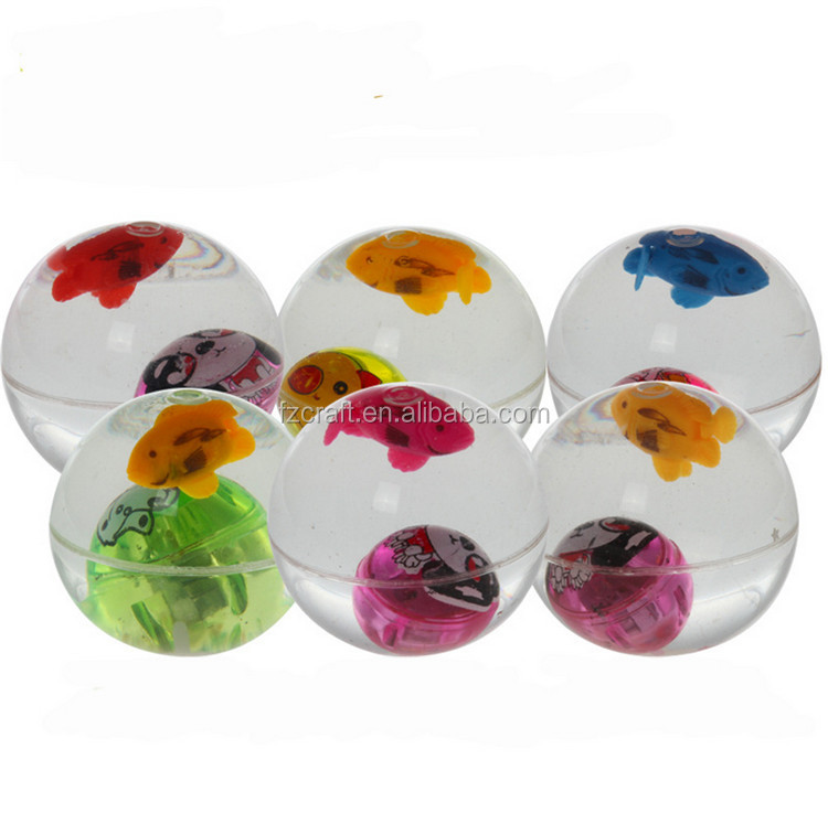 Water-Filled LED Bouncy Balls Glitter Dust Bouncing Balls